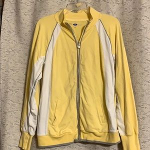 Yellow and grey zip up jacket